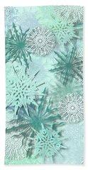 Snowflakes Hand Towel by AugenWerk Susann Serfezi