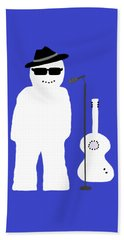 Snowman Musician Hand Towel by Barbara Moignard
