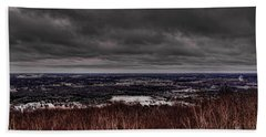 Snowstorm Clouds Over Rib Mountain State Park Bath Towel