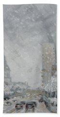 Snowy Day - Market Street Saint Louis Hand Towel