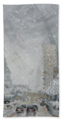 Snowy Day - Market Street Saint Louis Bath Towel