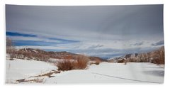 Snowy Field Bath Towel by Sean Allen