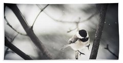 Hand Towel featuring the photograph Snowy Landing by Shane Holsclaw