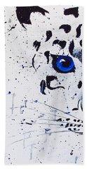 Snowy Leopard Bath Towel