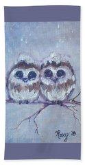 Snowy Owl Chicks Hand Towel
