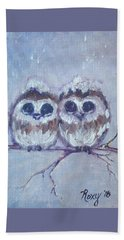 Snowy Owl Chicks Bath Towel