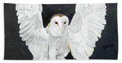 Snowy Owl Hand Towel by Christine Lathrop
