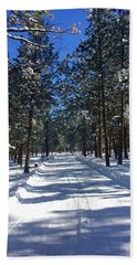 Snowy Road Bath Towel