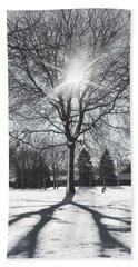 Bath Towel featuring the photograph Snowy Shadows by Nikki McInnes