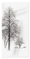 Snowy Trees Bath Towel