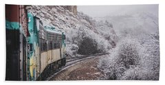 Snowy Verde Canyon Railroad Hand Towel