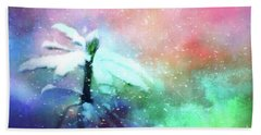 Snowy Winter Abstract Hand Towel