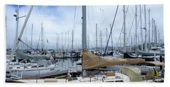 Hand Towel featuring the photograph So Many Sailboats by Laura DAddona