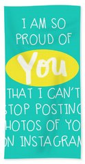 So Proud Of You- Blue Hand Towel