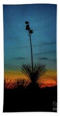 Soaptree Yucca At Sunset Hand Towel