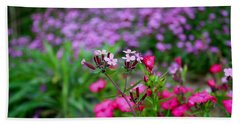 Hand Towel featuring the photograph Soapwort And Pinks by Kathryn Meyer