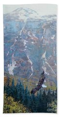 Soaring Eagle Hand Towel by Donald Maier