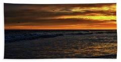 Hand Towel featuring the photograph Soaring In The Sunset by Kelly Reber