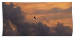 Bath Towel featuring the photograph Soaring Into The Sunset by Richard Bryce and Family