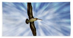 Soaring With Ease At Puerto Lopez Hand Towel