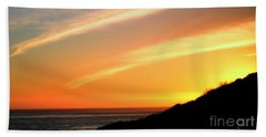 Bath Towel featuring the photograph Socal Sunet by Clayton Bruster