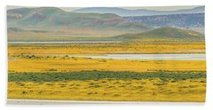 Soda Lake To Caliente Range Hand Towel by Marc Crumpler