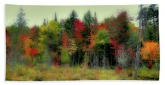 Hand Towel featuring the photograph Soft Autumn Panorama by David Patterson