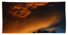 Soft Clouds And Contrast Bath Towel by Warren Thompson