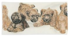 Soft-coated Wheaten Terrier Puppies Bath Towel