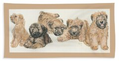 Soft-coated Wheaten Terrier Puppies Hand Towel