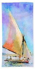 Soft Evening Sail Hand Towel