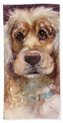 Soft Eyes Hand Towel by Judith Levins