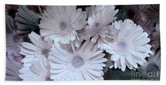 Soft Pink Daisy Bouquet Hand Towel by Jeannie Rhode