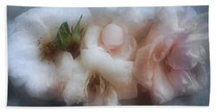 Bath Towel featuring the photograph Soft Pink Roses by Louise Kumpf