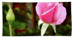 Soft Pink Wild Rose Hand Towel