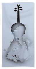 Hand Towel featuring the digital art Soft Violin by Alberto RuiZ