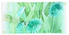 Soft Watercolor Floral Hand Towel