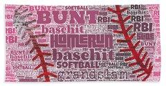 Softball  Hand Towel by Brandi Fitzgerald