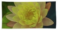 Softly Pink And Yellow Lilly Hand Towel