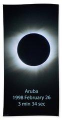 Solar Eclipse Aruba 1998 Hand Towel