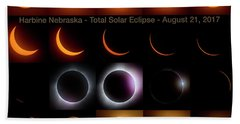 Solar Eclipse - August 21 2017 In Harbine Nebraska Hand Towel