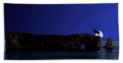 Solar Eclipse Over Perce Rock Bath Towel