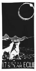 Solar Eclipse Bath Towel