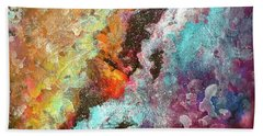 Solar Fusions Abstract Painting.  Hand Towel