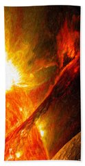 Solar Mass Ejection Bath Towel