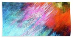 Solar Vibrations. Acrylic Abstract Painting Bath Towel