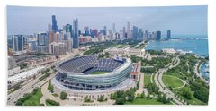 Bath Towel featuring the photograph Soldier Field by Sebastian Musial