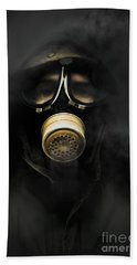 Soldier In Gas Mask Hand Towel
