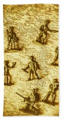 Soldiers And Battle Maps Bath Towel