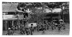 Soldiers In The Mekong Delta Hand Towel
